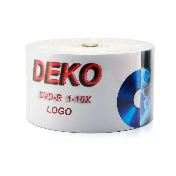 DVD-R Deko com logo 4.7GB - 50 Unidades