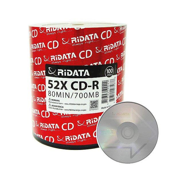 CD-R ridata 700MB pct 100 unidades