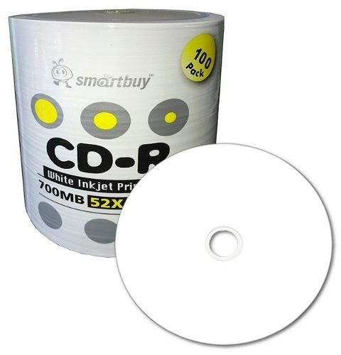 CD-R Printable smartbuy 52x 80 min - 100 unidades