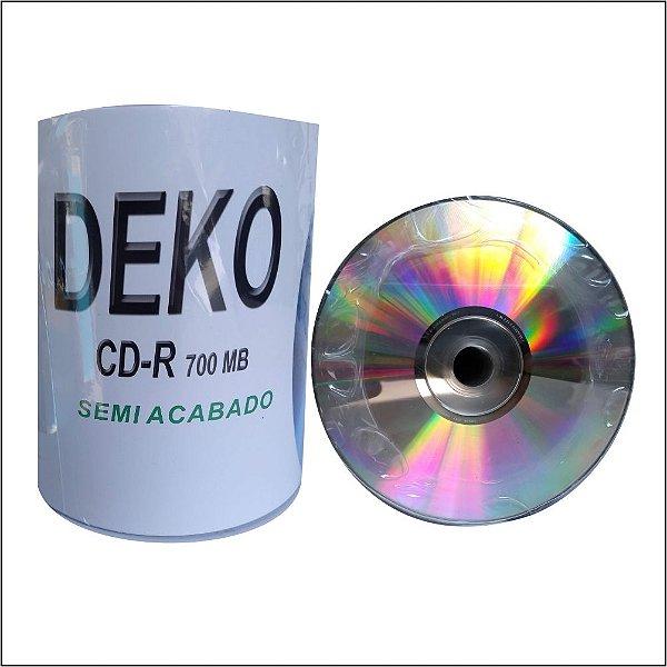 Mídia CD-R Deko prata prata - 100 unidades