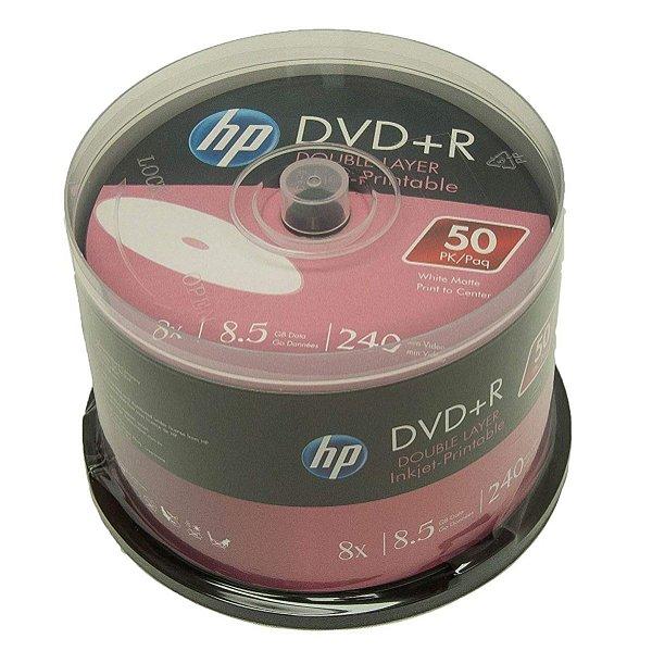 Mídia DVD+R DL 8.5GB HP pct 50 unidades