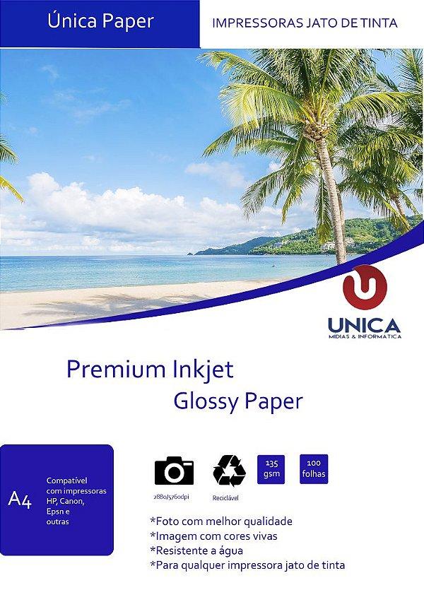 Papel Fotográfico Premium Glossy 135g 100fls - Mix Color