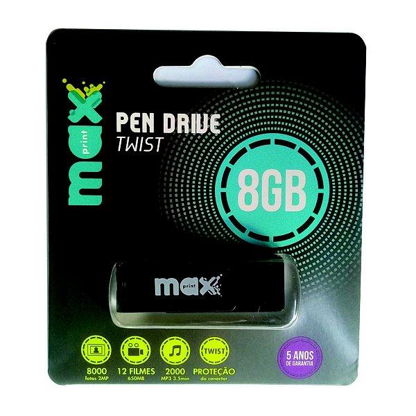 Pen Drive Twist Maxprint 8GB - 5 peças