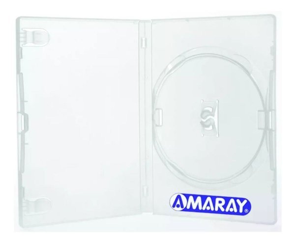 Box para DVD Padrão Transparente 1 disco