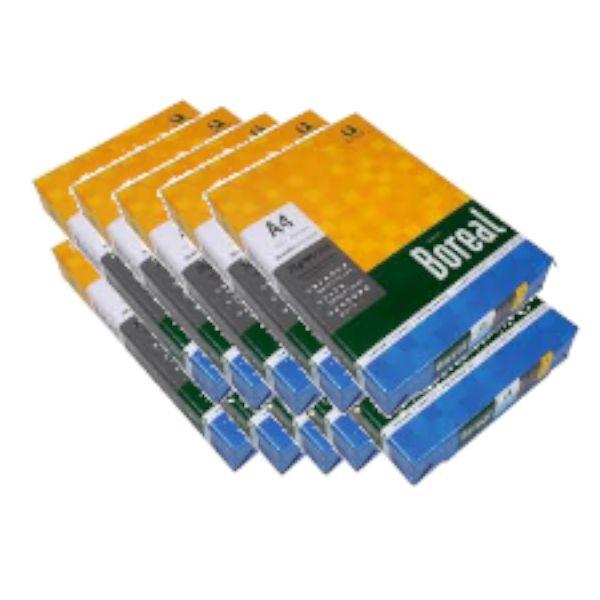 Caixa c/ 10 Pacotes - Papel Sulfite Boreal A4 75 g/m² 210X297mm Branco