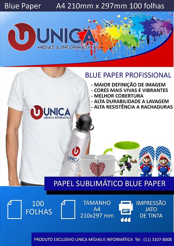 Blue Paper para Sublimação 180gsm 100 fls