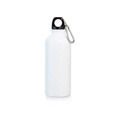Squeeze Branco com Alça de Mosquetão 500ml com Tampa Rosqueável