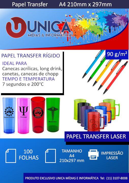 Papel Transfer 90 gsm A4 100 folhas