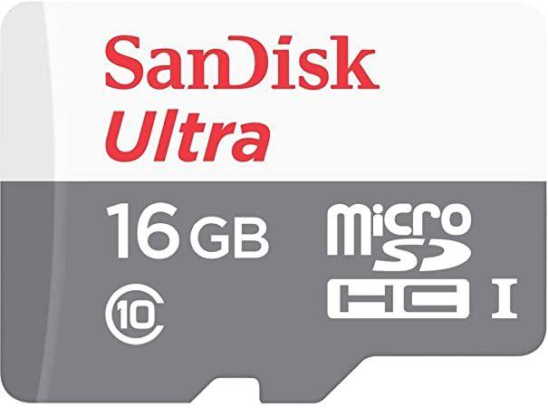Cartão de Memória Sandisk 16gb Ultra 80MB/s + Adaptador SD