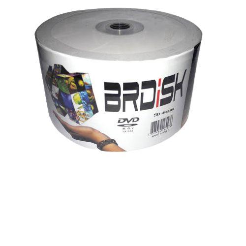 DVD-R 4.7GB 16x logo - BRDISK - 50 unidades