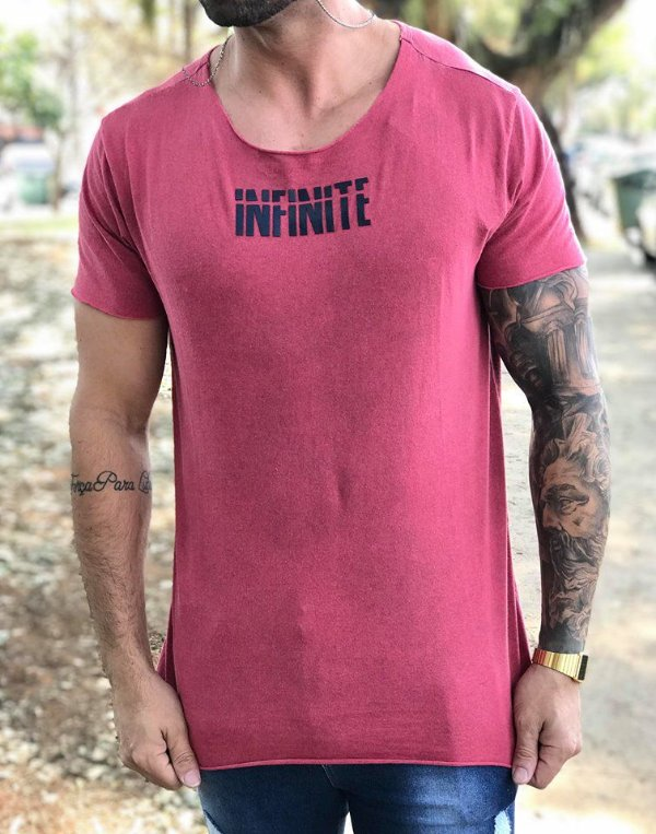 Camiseta Longline Classic Malbec Infinite - Booq For Men
