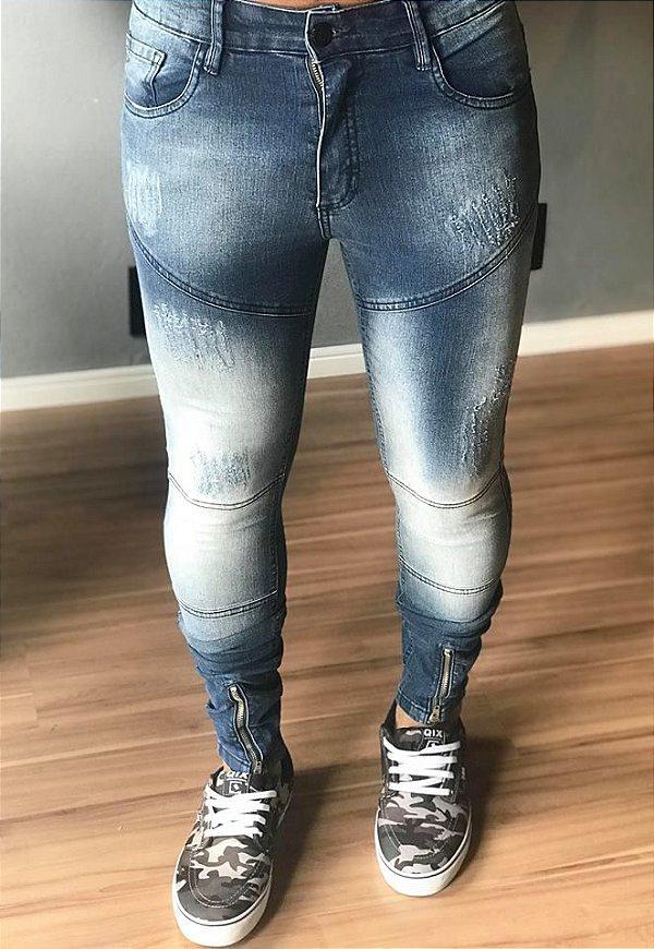 Calça Jeans Skinny Surrender Recortes - Effel Culture