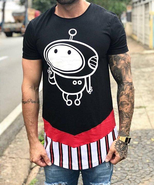 Camiseta Longline Robozinho - King Joy