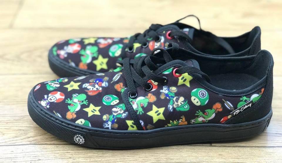 Sapatenis Mario Bross Black - FB Exclusive Clothing
