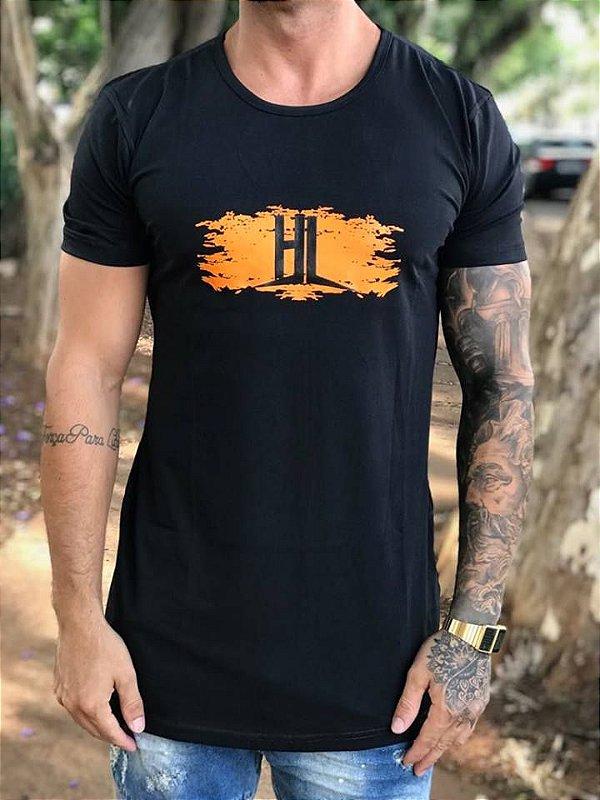 Camiseta Longline Orange Brush - Hundred Limit
