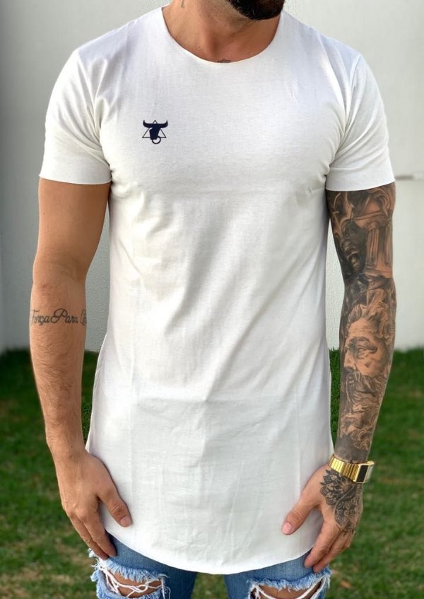 Camiseta Longline Basic Off White - Totanka