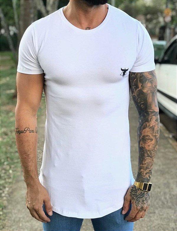 Camiseta Longline Full Roses White - Totanka