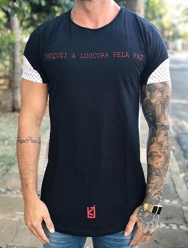 Camiseta Longline Poá Lateral - King Joy