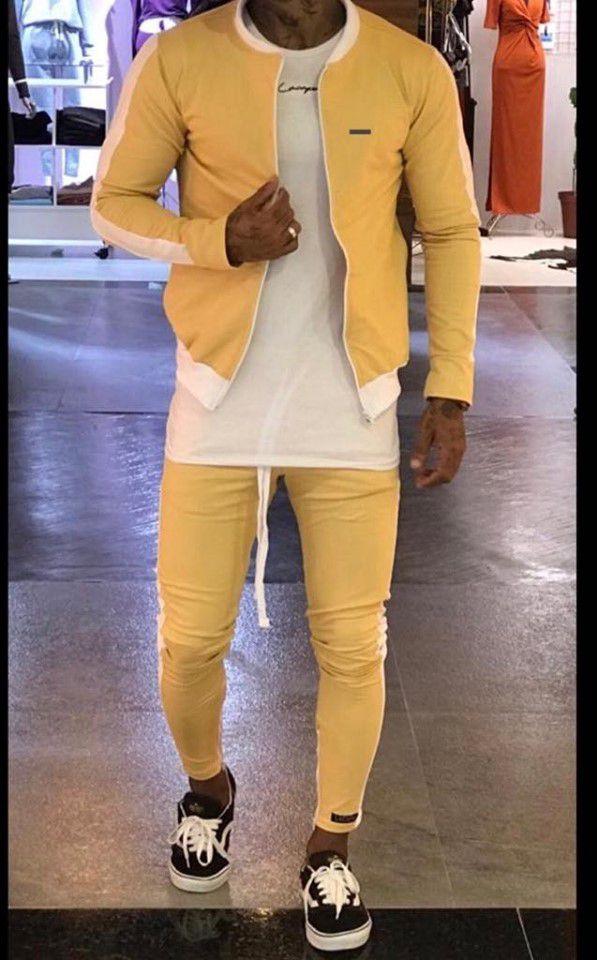 Conjunto Moletinho Yellow - Lacapa - (Jaqueta Bomber + Calça)