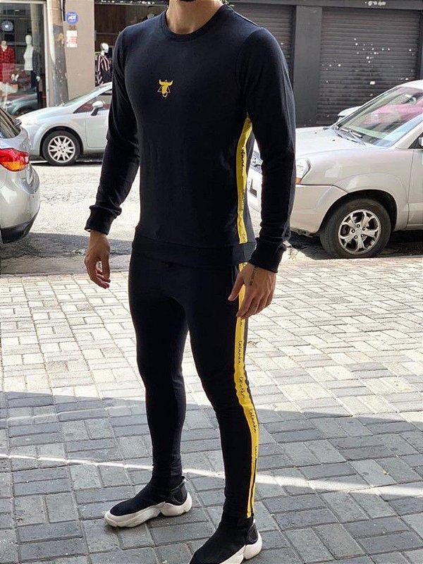 Conjunto Moletinho Black Yellow - Totanka