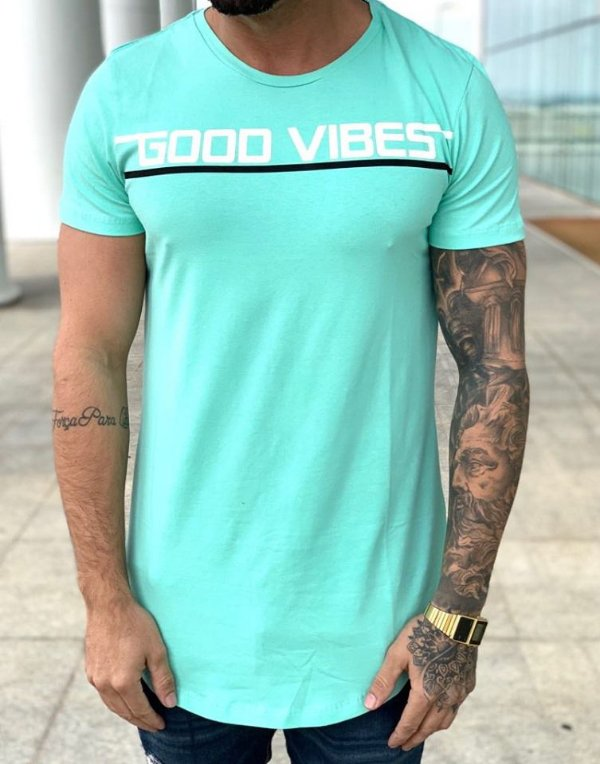 Camiseta Longline Good Vibes - Totanka