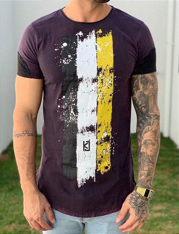 Camiseta Longline Tricolor Brand - King Joy