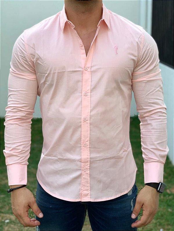 Camisa Manga Longa Basic Rose - Zip off