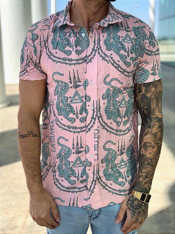 Camisa Manga Curta Pink Tiger - La Mafia