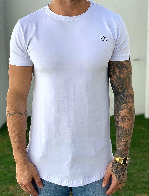 Camiseta Longline Rose Skull White - FB Exclusive Clothing