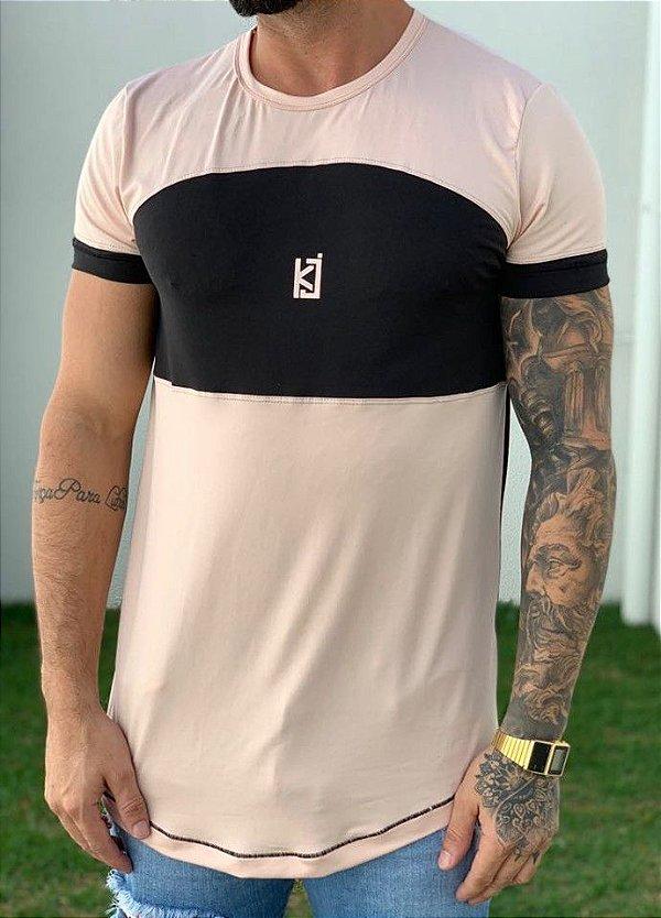 Camiseta Longline Suede Faixa Horizontal - King Joy