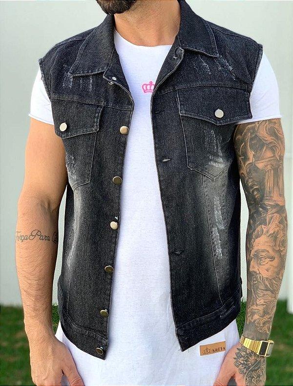 Colete Jeans Black - Exalt Urban