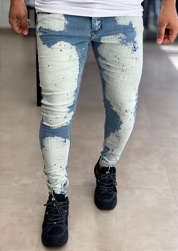 Calça Jeans Skinny Tiedye - City Denim