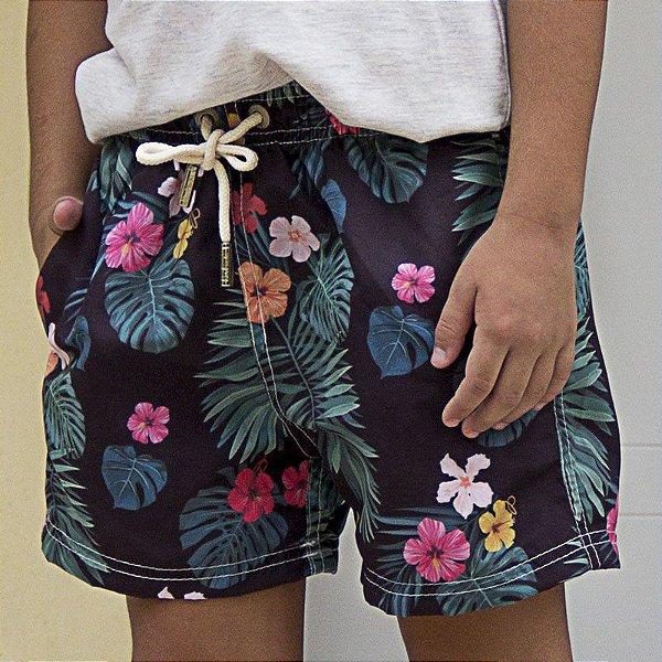 Shorts Infantil Hibiscos - PerPochi