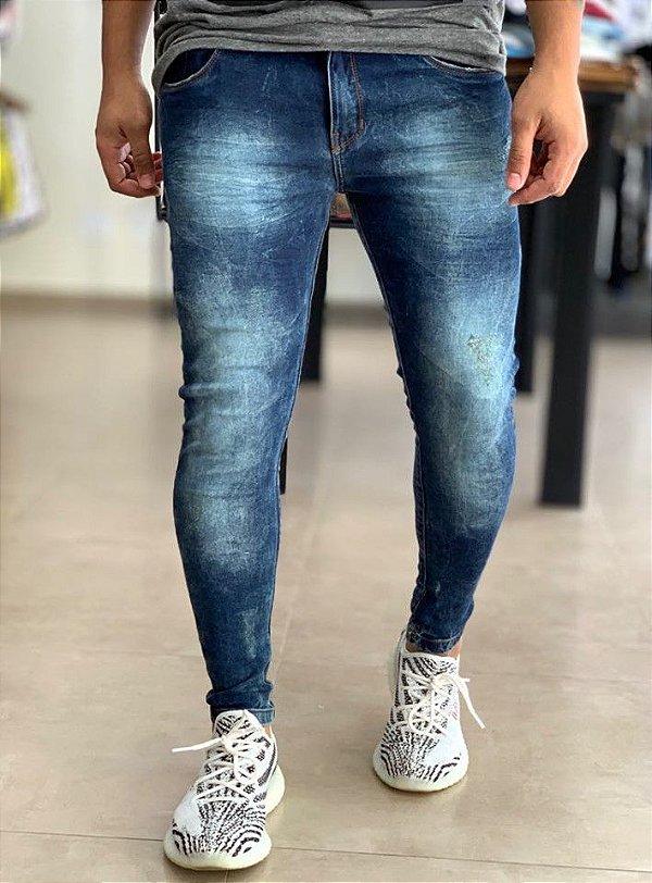 Calça Jeans Skinny Básic Médio Verde - Kawipii