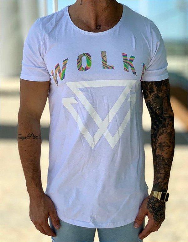 Camiseta Longline WLK Colorfull - Wolke