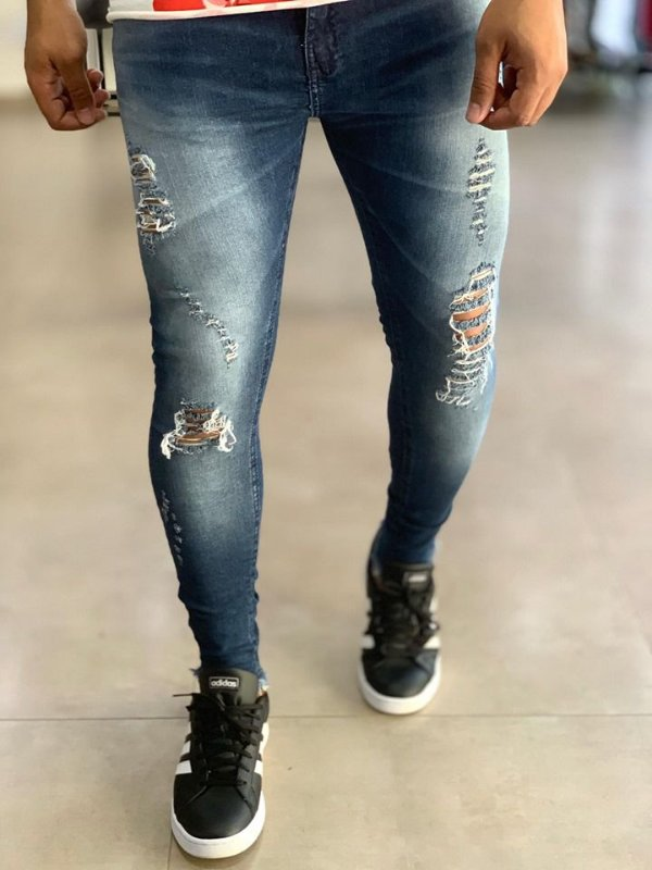 Calça Jeans Skinny Destroyed American - Creed Jeans