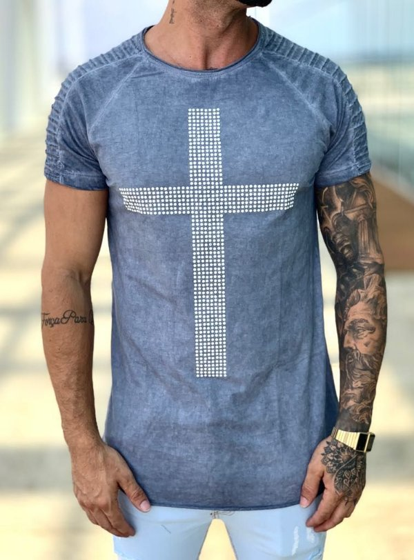 T-shirt Blue Estonado Cruz - John Jones