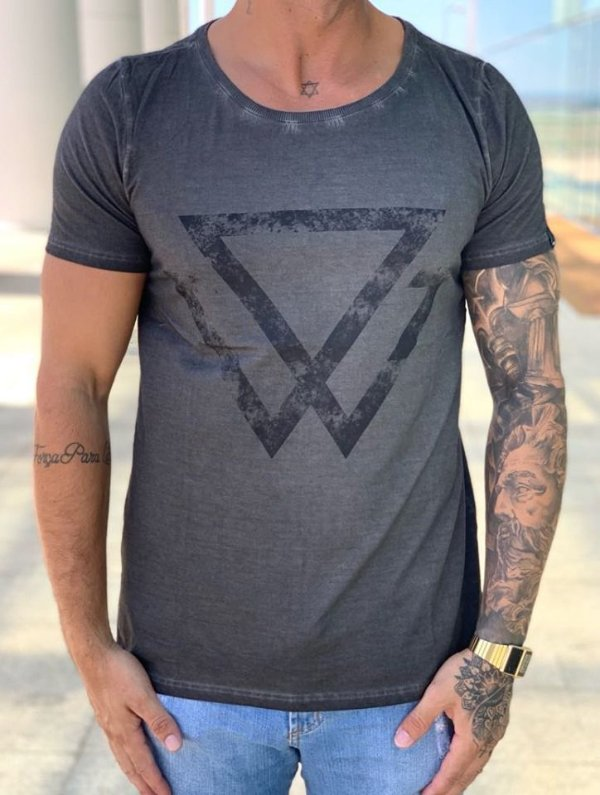 T-Shirt Lavada Black In Black - Wolke