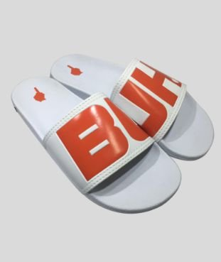 Chinelo Slide White e Orange - Buh