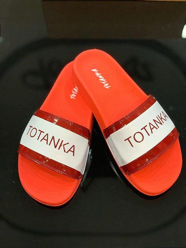 Chinelo Slide Red New Year - Totanka