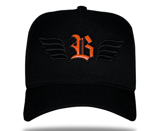 Boné Snapback Wings Logo Orange - BLCK