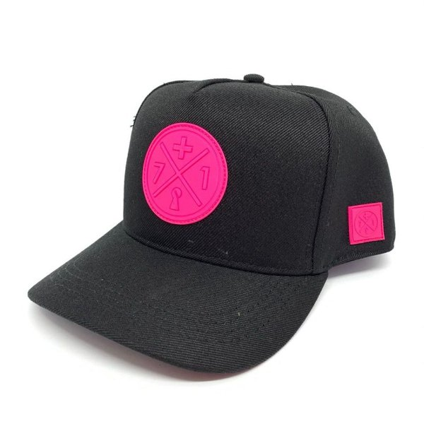 Boné Snapback Rubber Neon Pink - Mais 71 Clothing