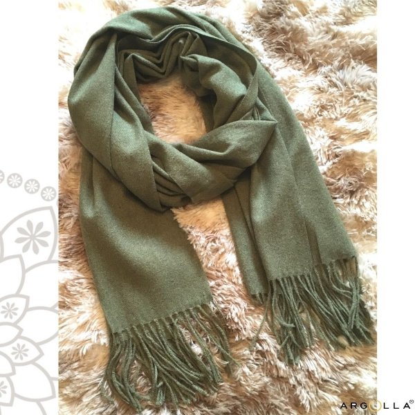 Pashimina de lãzinha/ verde