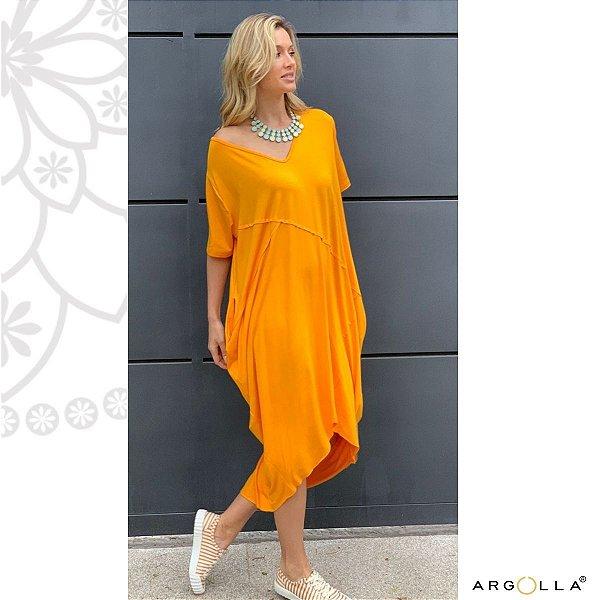 Vestido Frizo Califórnia - Amarelo