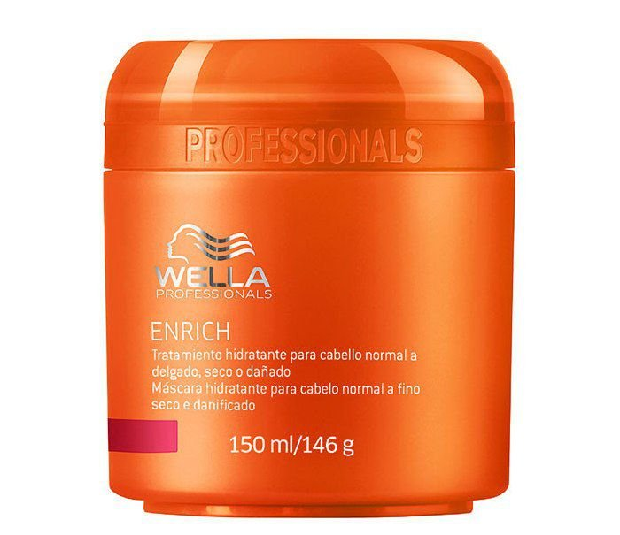 Wella Professional Enrich - Máscara Hidratante Cabelo Normal a Fino Seco - 150 ml