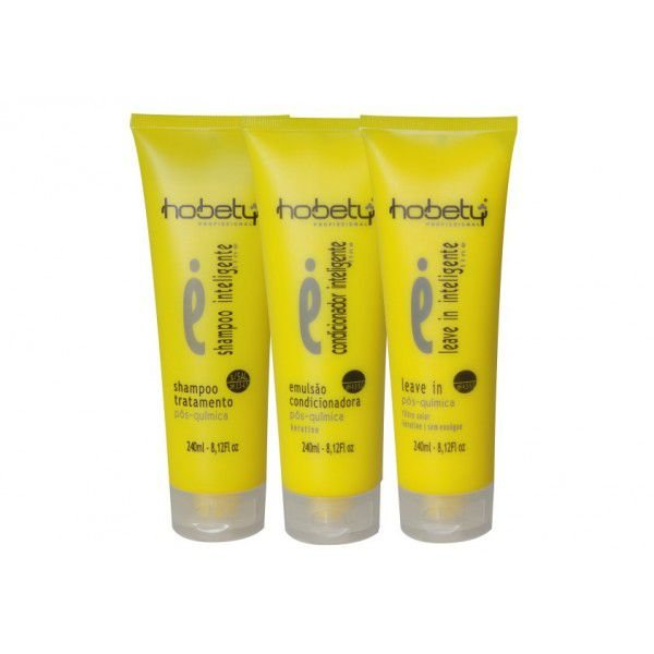 kit Linha Inteligente Hobety shampoo 240ml+ emulsão 240ml+ leave-in 240 ml
