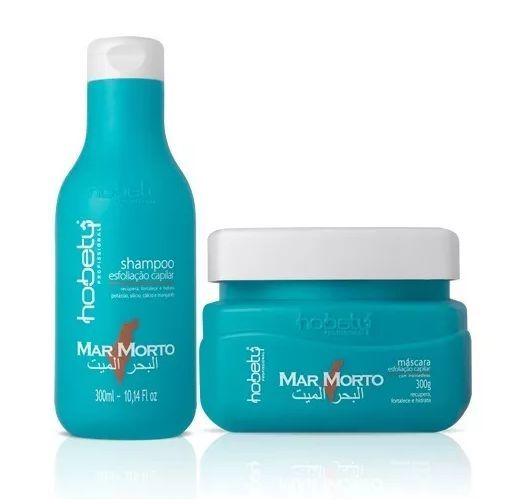 kit Mar Morto Esfoliação Capilar Hobety shampoo 300ml e máscara 300ml