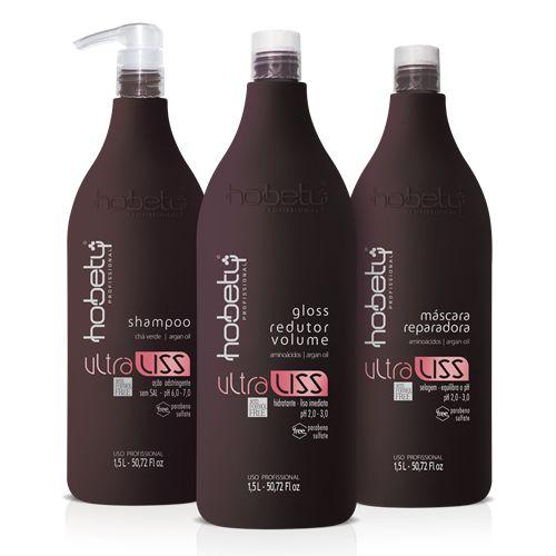 Escova Ultra Liss sem formol matizadora Hobety 1,5 litros GLOSS