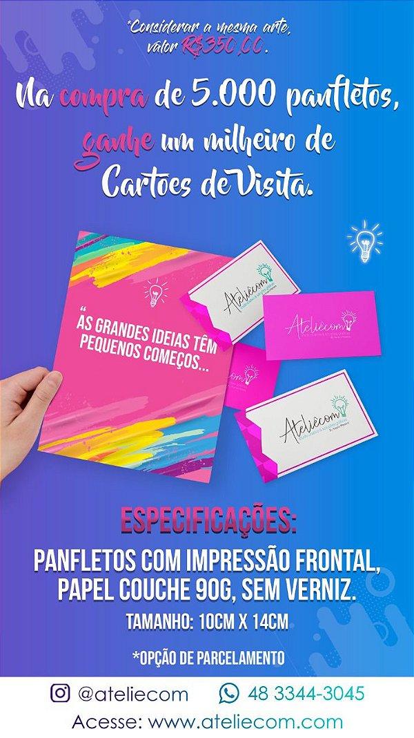 GANHE MIL CARTÕES DE VISITAS NA COMPRA DE 5 MIL PANFLETOS 10X14 CM