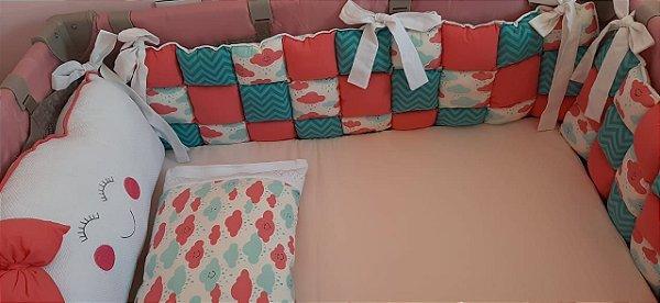 Kit berço patchwork 06 peças